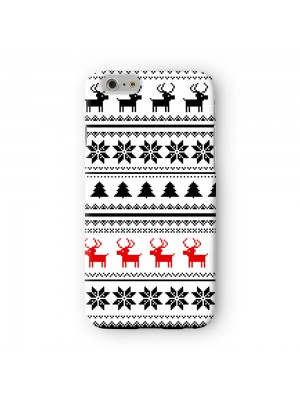 Black and Red Christmas Pattern Premium Full Wrap Case for iPhone 6 6S Plus by UltraCases