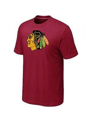Chicago Blackhawks Mens Team Logo Short Sleeve T-Shirt - Red