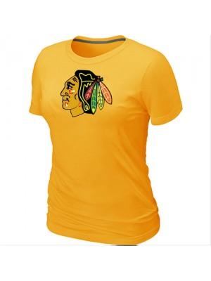 Chicago Blackhawks Women's Team Logo Short Sleeve T-Shirt - Yellow