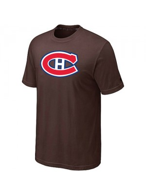 Montreal Canadiens Mens Team Logo Short Sleeve T-Shirt - Brown
