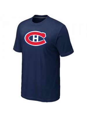 Montreal Canadiens Mens Team Logo Short Sleeve T-Shirt - Dark Blue