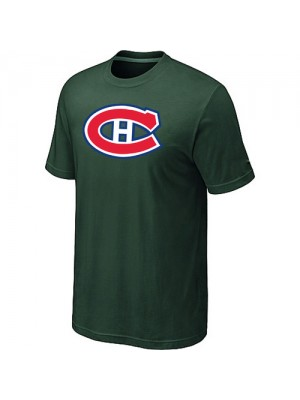 Montreal Canadiens Mens Team Logo Short Sleeve T-Shirt - Dark Green