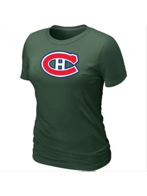 Montreal Canadiens Women's Team Logo Short Sleeve T-Shirt - Dark Green