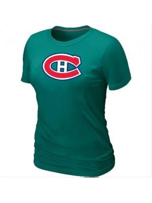 Montreal Canadiens Women's Team Logo Short Sleeve T-Shirt - Green