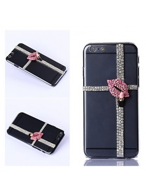 iPhone 6 6s 7 Plus DIY Luxuriant Lips with Rhinestone Case Cover FOR iPhone 7/7 Plus 6s