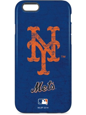 MLB New York Mets - Solid Distressed 3D Case For iPhone 6/6S