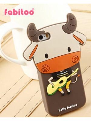 iPhone 6 Cute Cow Silicone Cartoon Case For iPhone 7/7 Plus Cartoon cases