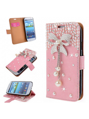 1817e16080d Quick View · iPhone 7 7 Plus plus 3D Pearl Bow BLING Wallet Case Stand  Cover for Samsung