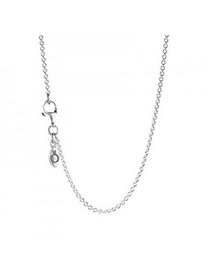 Lady Fashion Sterling Silver Chain with clasp Necklace