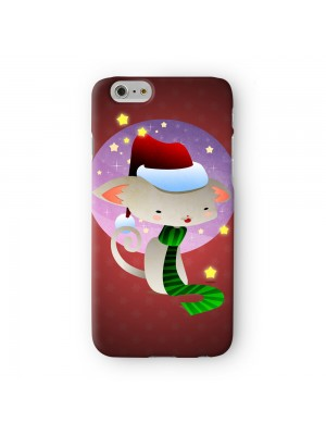 Christmas Kitty Full Wrap 3D Printed Case for Apple iPhone 7 7S Plus by DevilleArt