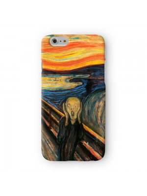 The Scream by Edvard Munch Full Wrap 3D Printed Case for Apple iPhone 6 6S Plus by Painting Masterpieces