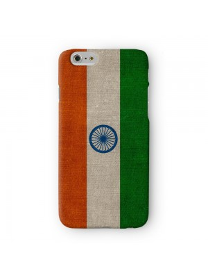 Canvas Flag of India Indian Flag Full Wrap 3D Printed Case for Apple iPhone 6 6S Plus by World Flags