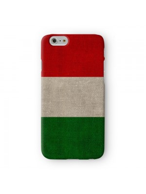 Canvas Flag of Italy Italian Flag bandiera d'Italia Full Wrap 3D Printed Case for Apple iPhone 6 6S Plus by World Flags