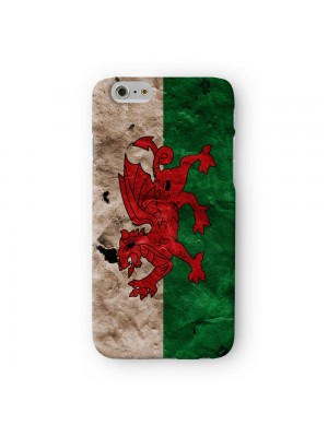 Grunge Paper Flag of Wales Dragon Welsh Baner Cymru Y Ddraig Goch Full Wrap 3D Printed Case for Apple iPhone 6 6S Plus by World Flags