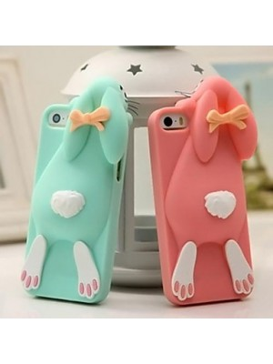 3d Lovely Bucktooth Rabbit Silicon Case Cover for iPhone 6/6s/7 Plus, iPhone 7/7 Plus 6 6s