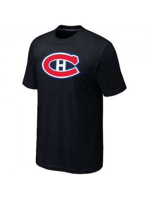 Montreal Canadiens Mens Team Logo Short Sleeve T-Shirt - Black