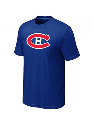 Montreal Canadiens Mens Team Logo Short Sleeve T-Shirt - Blue