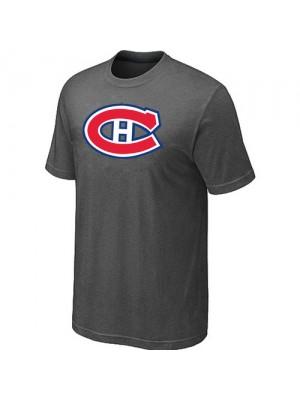 Montreal Canadiens Mens Team Logo Short Sleeve T-Shirt - Dark Grey