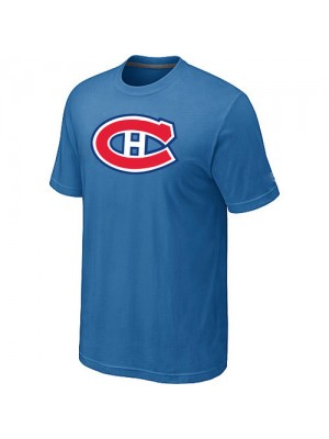 Montreal Canadiens Mens Team Logo Short Sleeve T-Shirt - light Blue