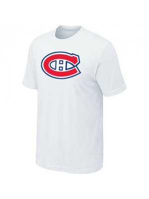 Montreal Canadiens Mens Team Logo Short Sleeve T-Shirt - White