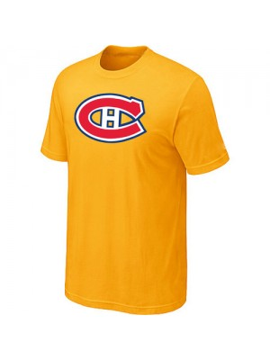 Montreal Canadiens Mens Team Logo Short Sleeve T-Shirt - Yellow
