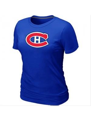 Montreal Canadiens Women's Team Logo Short Sleeve T-Shirt - Blue