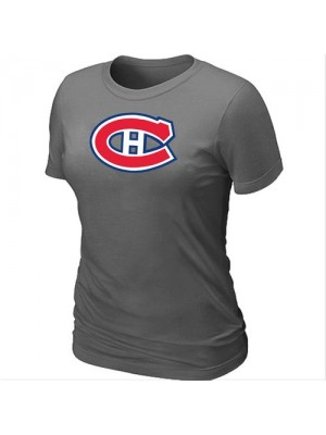 Montreal Canadiens Women's Team Logo Short Sleeve T-Shirt - Dark Grey