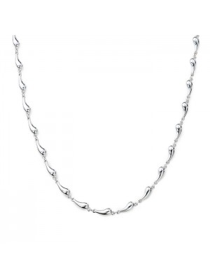 Lady Fashion Elsa Peretti CONTINUOUS TEARDROP 925 silver necklace