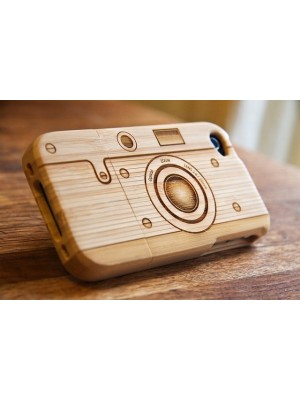 iPhone 6 6s plus iPhone 7/7 Plus plus Cute Camera Shaped Wooden Back Case Cover for iPhone 5/5s/5c (iPhone 5c wood case)