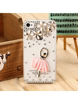 Superior Transparent Crystal Dancing Girl Case Cover for iPhone 4/4S/5/5s/5c/6/6s/7 7Plus